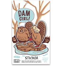LOL Made You Smile Dam Girl Sticker