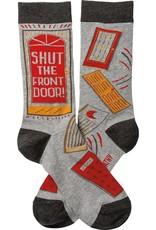 Shut the Front Door Unisex Socks