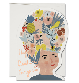 Happy Birthday Gorgeous Fruit Hat Greeting Card