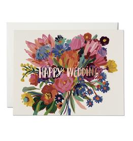 Happy Wedding Bouquet Greeting Card