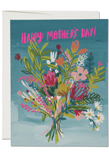 Red Cap Cards Happy Mother's Day Bouquet Greeting Card