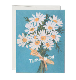 Red Cap Cards Thinking of You Daisies Greeting Card