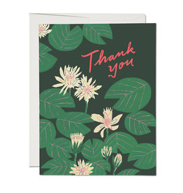 Thank You Lily Pads Greeting Card
