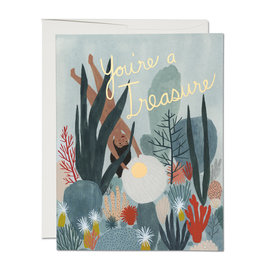 Red Cap Cards You're a Treasure Greeting Card