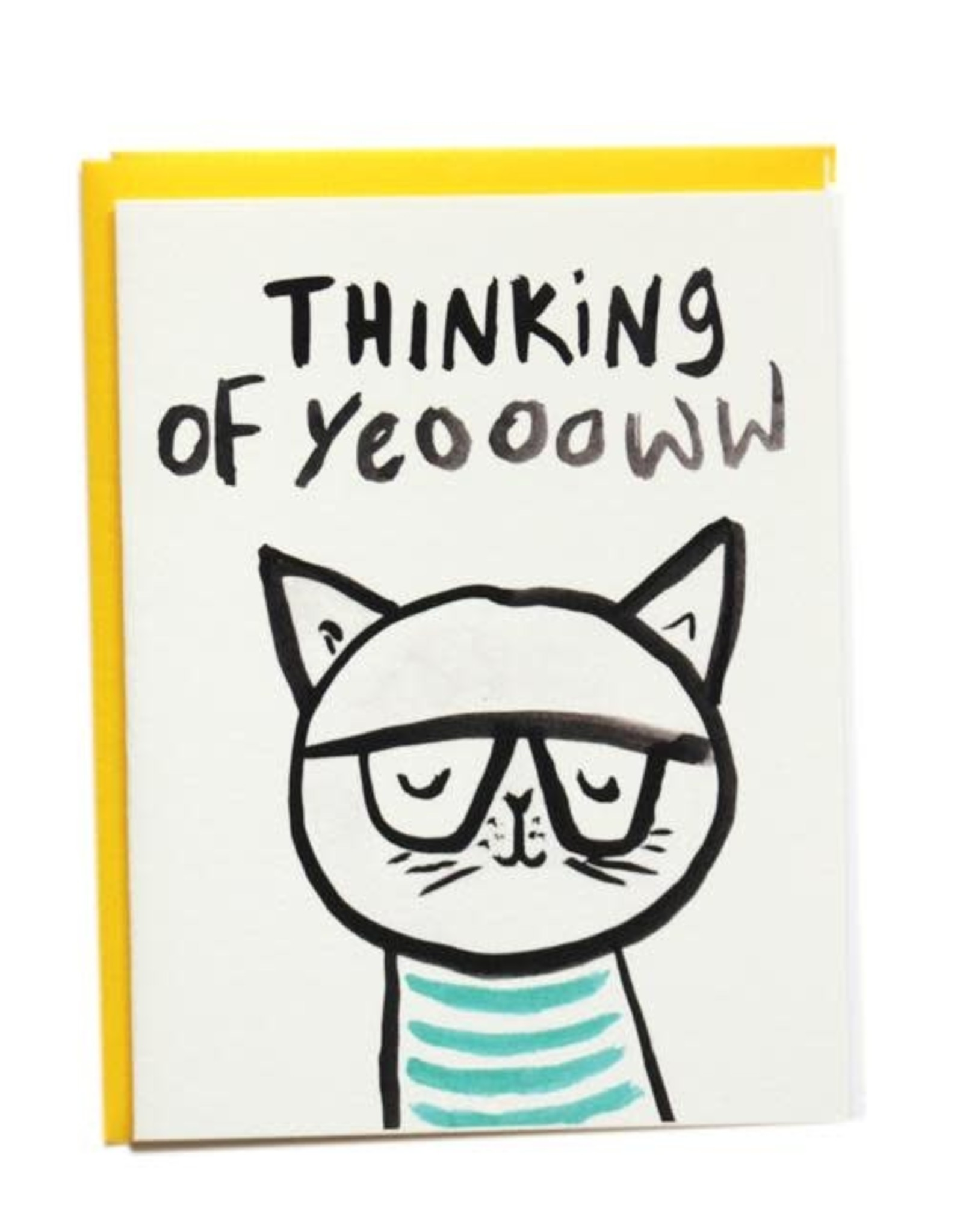 Thinking of Yeoww Greeting Card