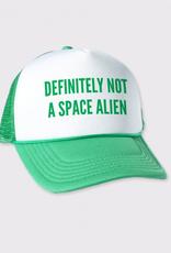 Headline Definitely Not A Space Alien Trucker Hat