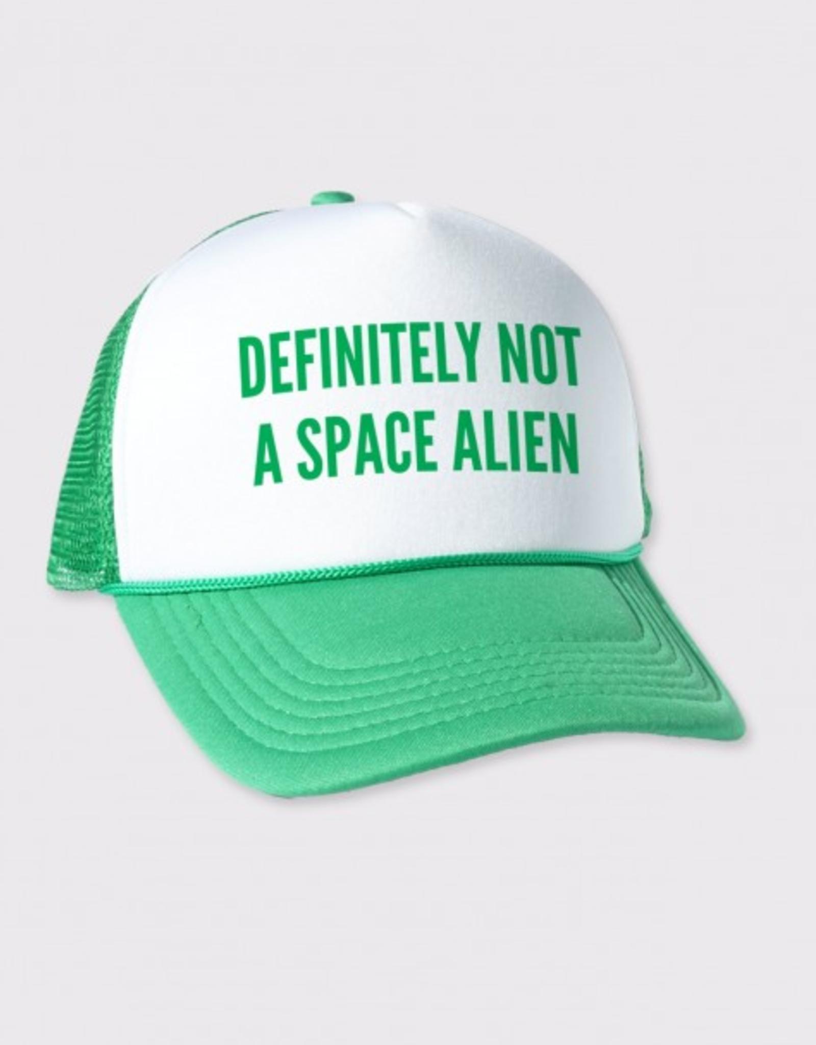 Definitely Not A Space Alien Trucker Hat