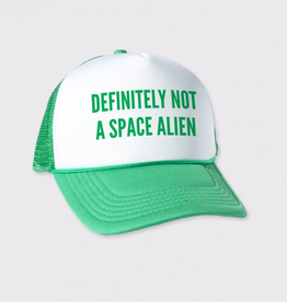 Definitely Not A Space Alien Trucker Hat