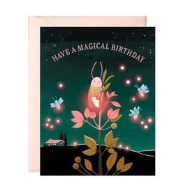 JooJoo Paper Magical Birthday Firefly Greeting Card