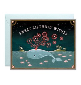 Sweet Birthday Whale Greeting Card