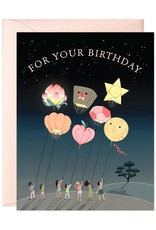JooJoo Paper Birthday Balloons Greeting Card