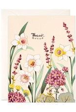 Thank You (Cream Florals) Greeting Card