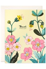 Thank You (Yellow Florals) Greeting Card