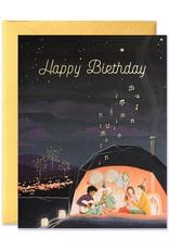 JooJoo Paper Happy Birthday Aurora Dome Greeting Card