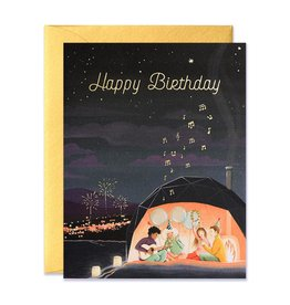 Happy Birthday Aurora Dome Greeting Card