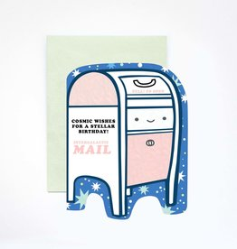 Cosmic Mailbox Birthday Greeting Card
