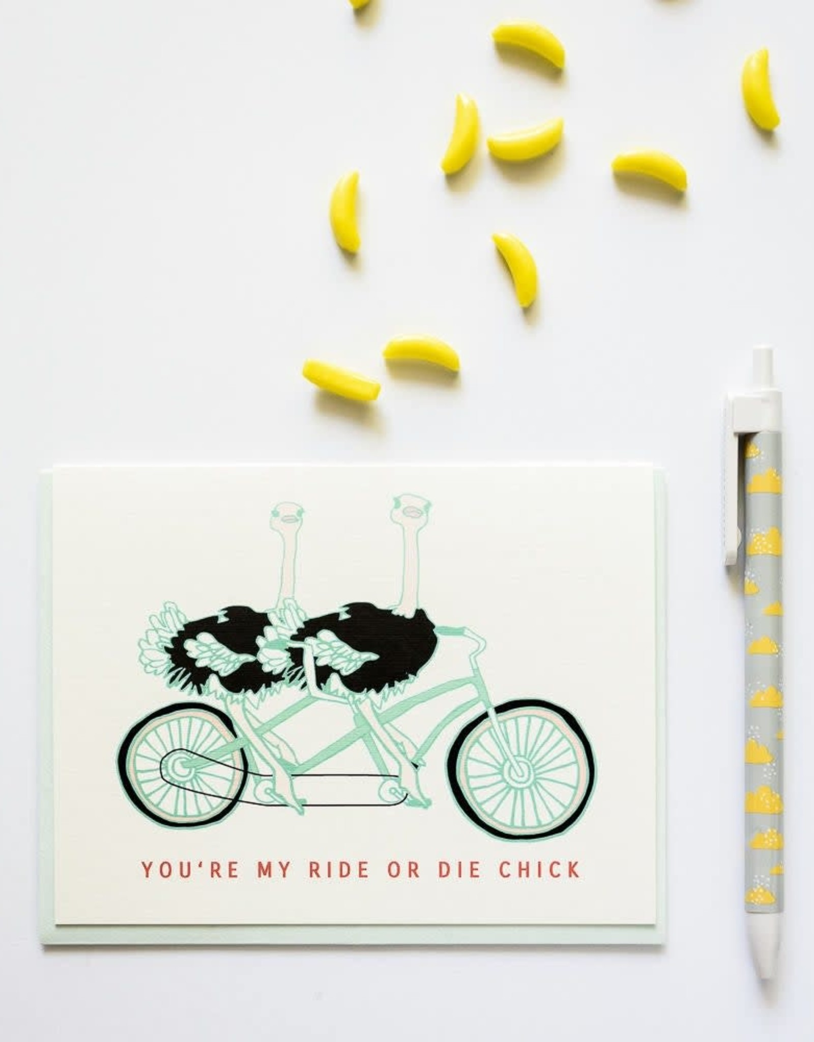 Ilootpaperie Ride or Die Chick Greeting Card