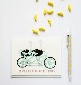 Ride or Die Chick Greeting Card