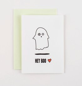 Hey Boo Greeting Card