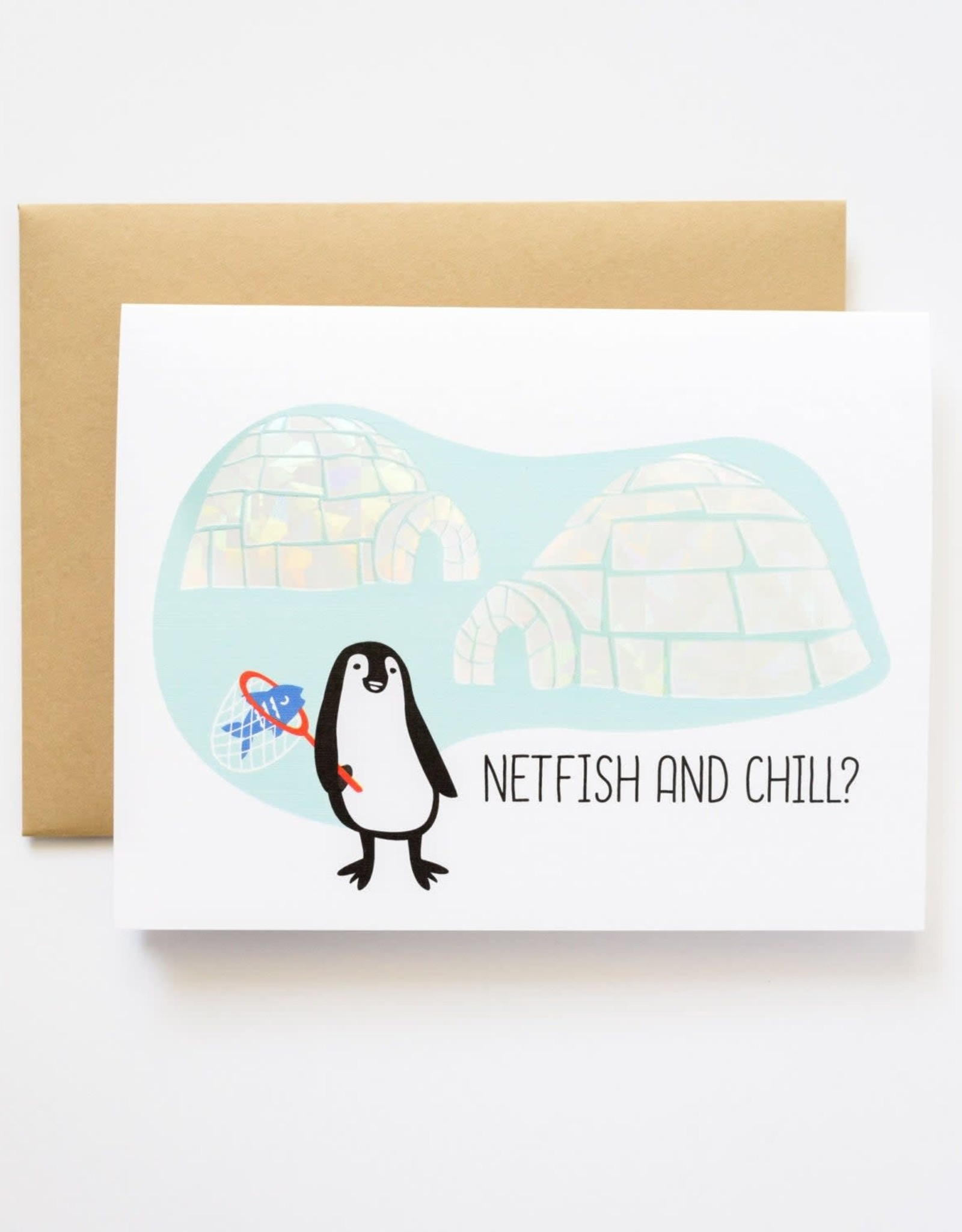 Netfish and Chill Greeting Card
