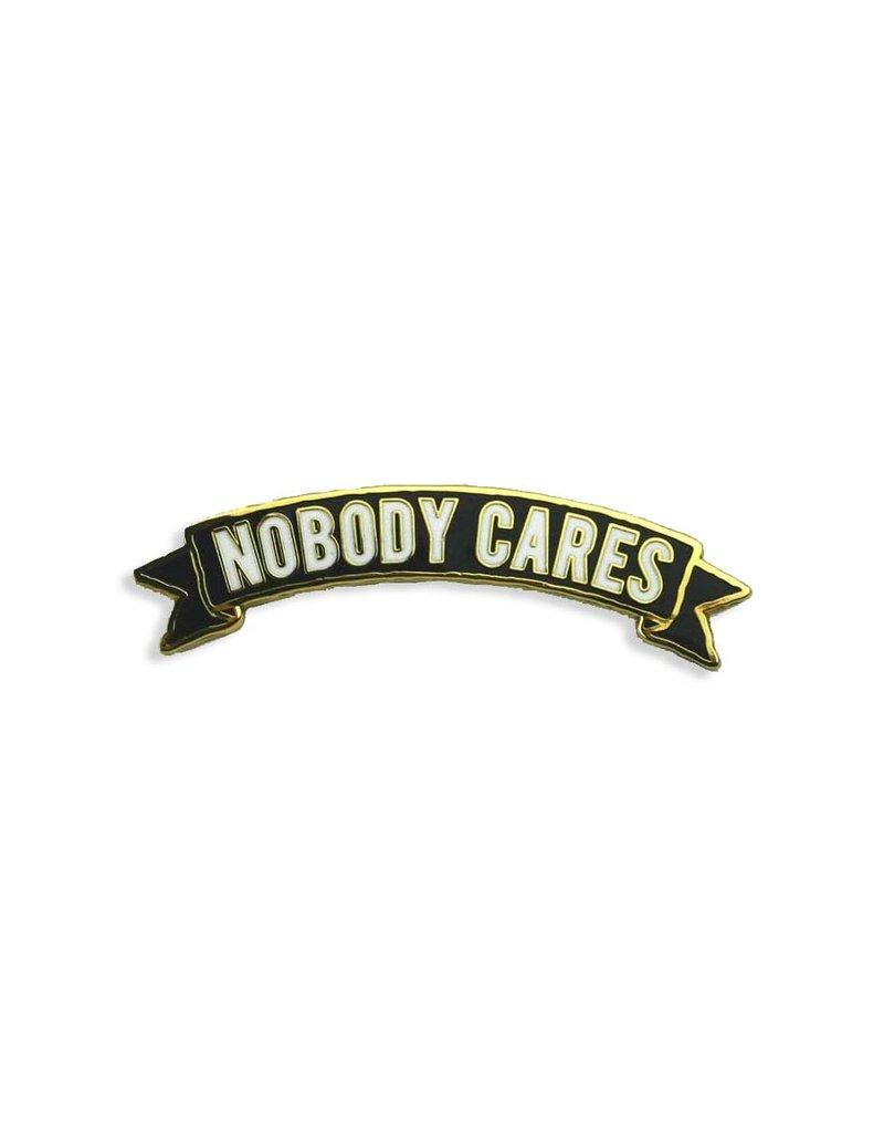 Trixie & Milo Nobody Cares Banner Pin
