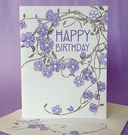 Happy Birthday (Vinca) Greeting Card