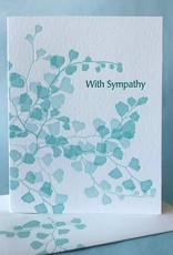 With Sympathy (Maidenhair Fern) Greeting Card
