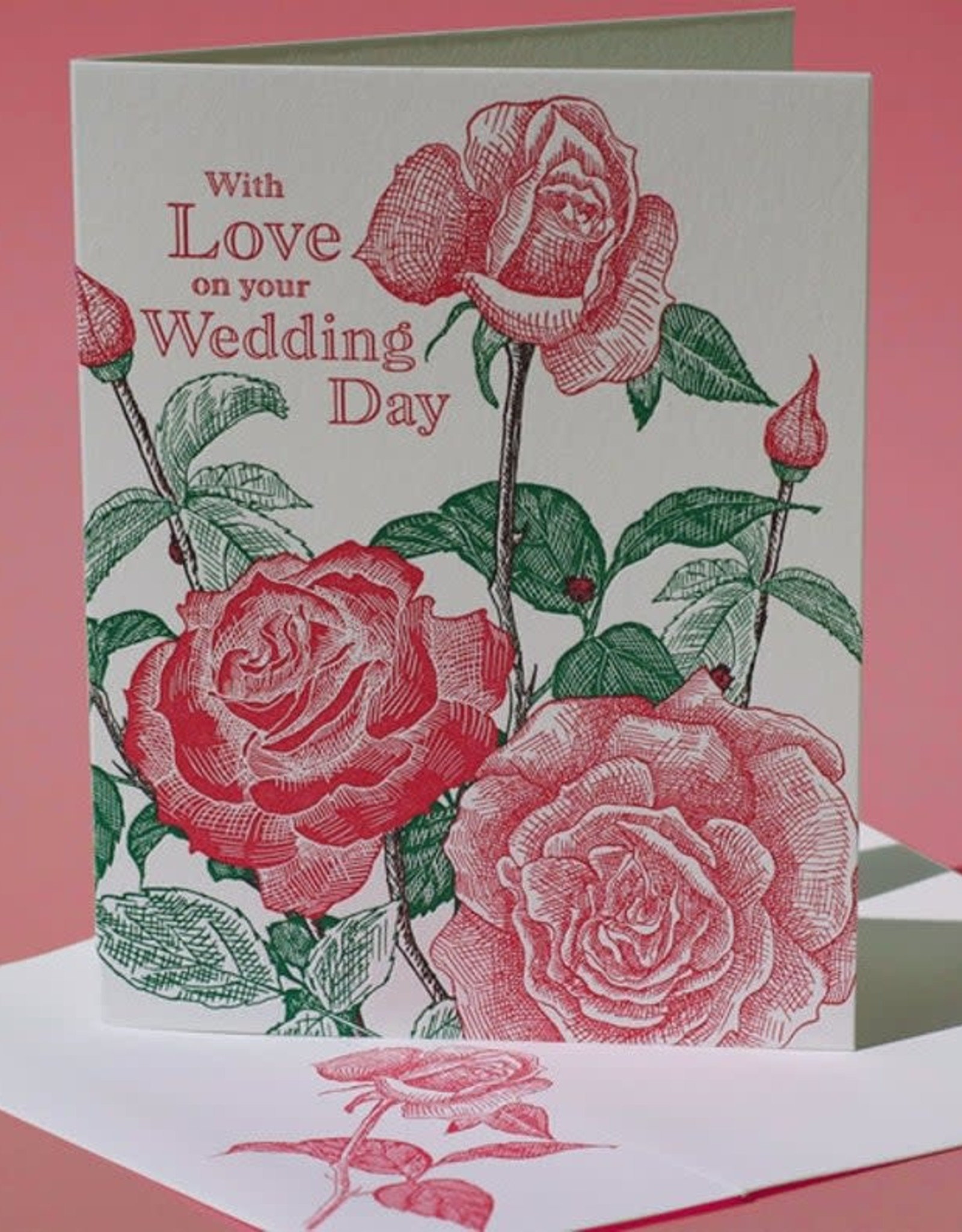 With Love on your Wedding Day (Tea Rose) Greeting Card