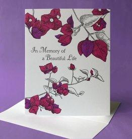 Painted Tongue Studios In Memory of a Beautiful Life (Bougainvillea) Greeting Card