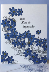 With Love and Sympathy (Hepatica) Greeting Card