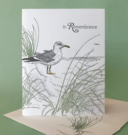 In Remembrance (Dune Grass & Gull) Greeting Card