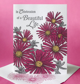 In Celebration of a Beautiful Life (Ice Plant) Greeting Card