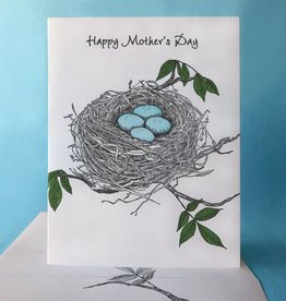 Painted Tongue Studios Happy Mother's Day (Robin's Nest) Greeting Card