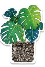 Cactus Club Paper Monstera Sticker