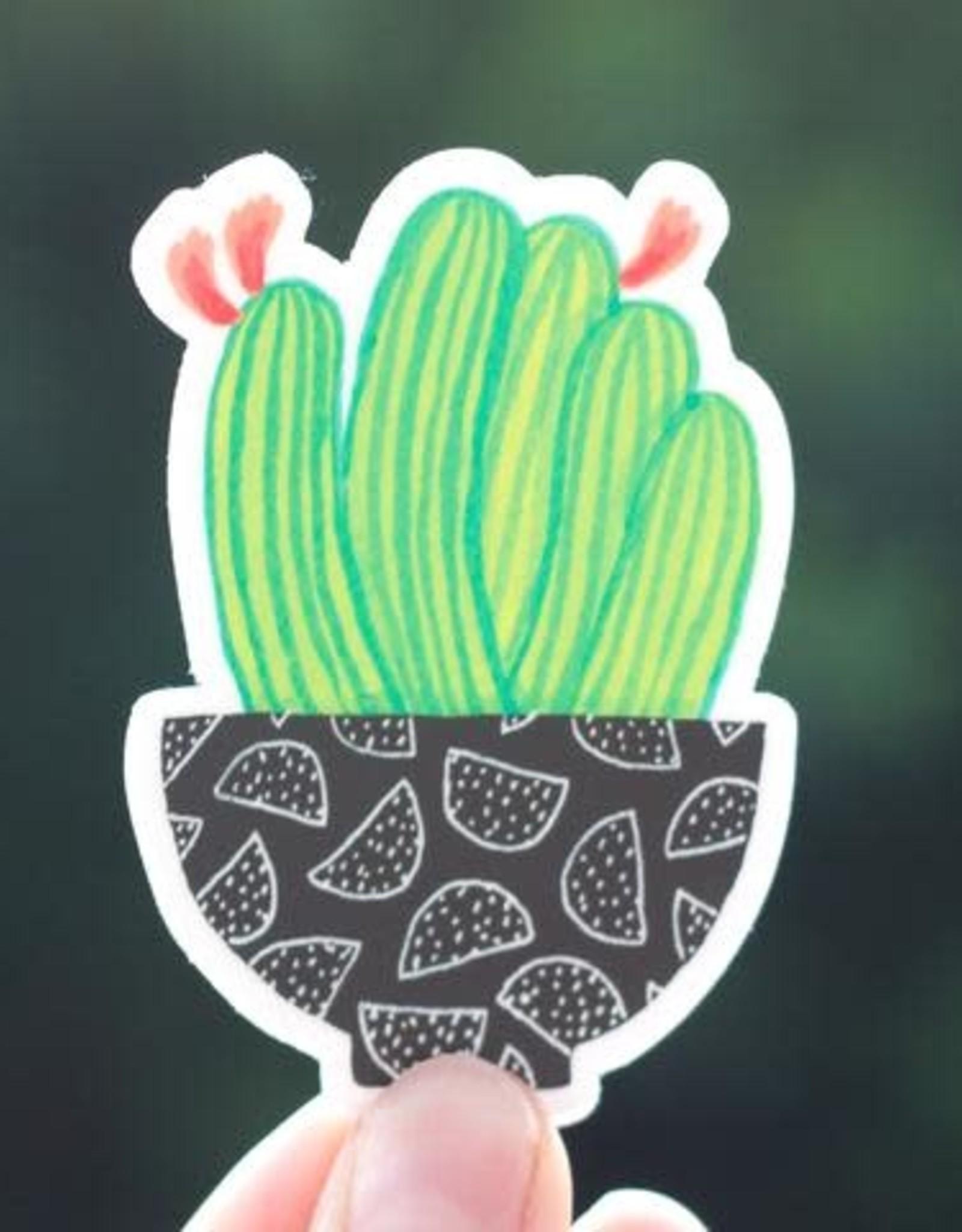 Cactus Club Paper Cactus Bowl Sticker