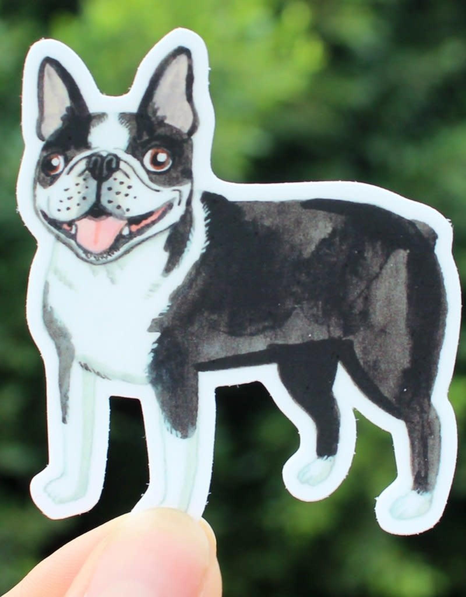 Cactus Club Paper Boston Terrier Sticker