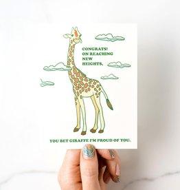 Ilootpaperie Giraffe Congrats Greeting Card