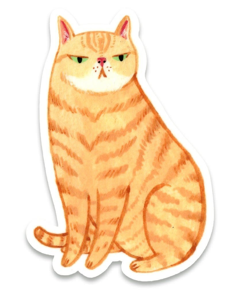 Cactus Club Paper Orange Cat Sticker