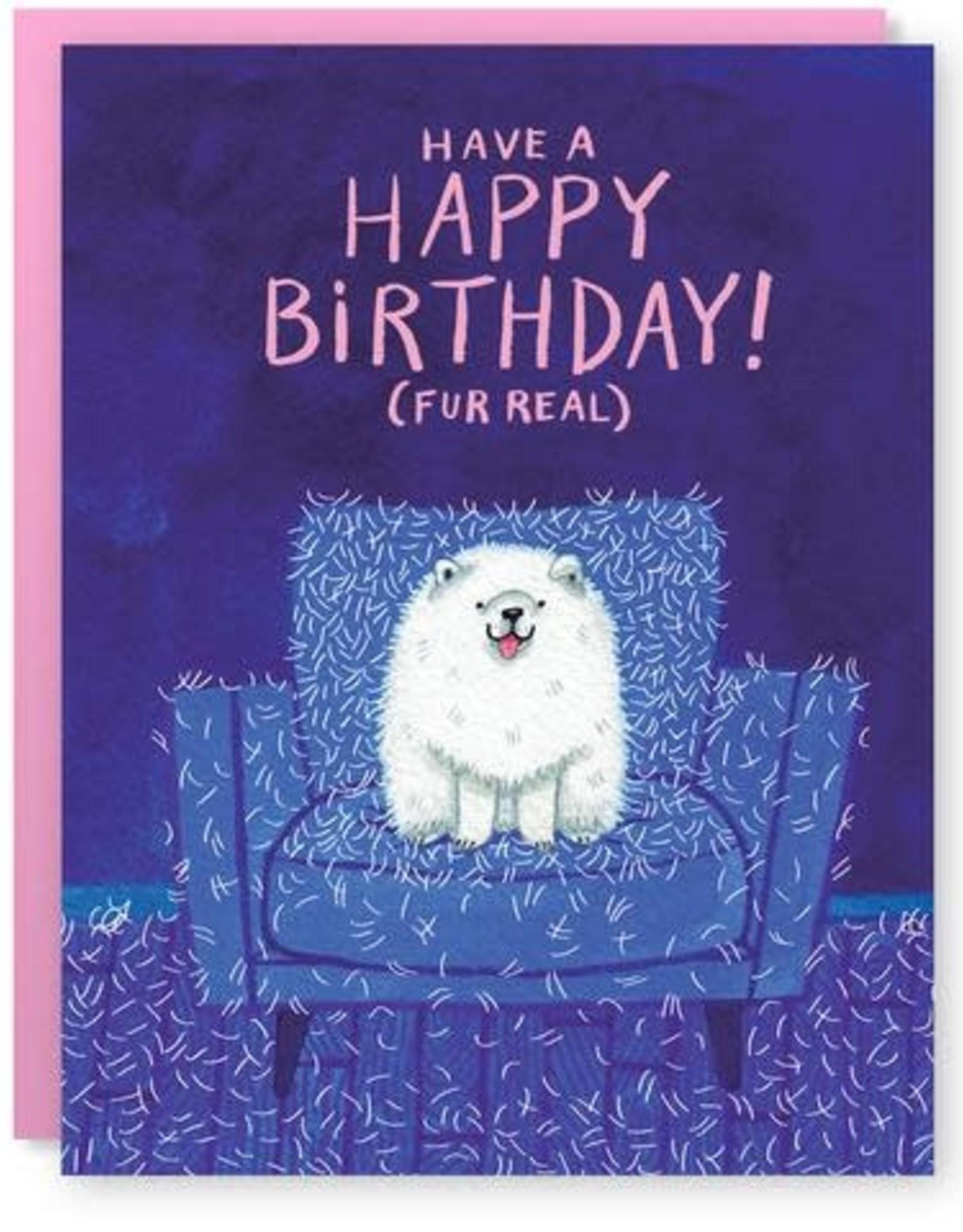 Fur Real Birthday Greeting Card