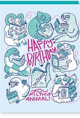 Filthy Animals Birthday Greeting Card