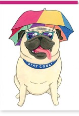 Stay Cool Pug Greeting Card