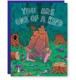 One of a Kind Bigfoot Greeting Card