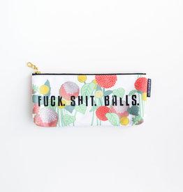 Fuck Shit Balls Pencil Bag