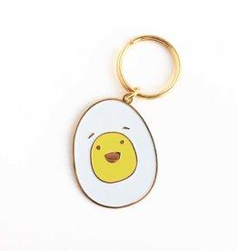 Egg Enamel Keychain