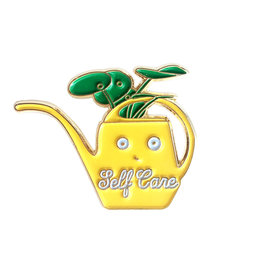 Ilootpaperie Self Care Watering Can Enamel Pin