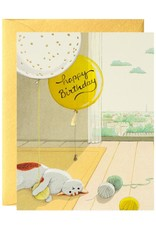 JooJoo Paper Happy Birthday (Cat & Yarn) Greeting Card