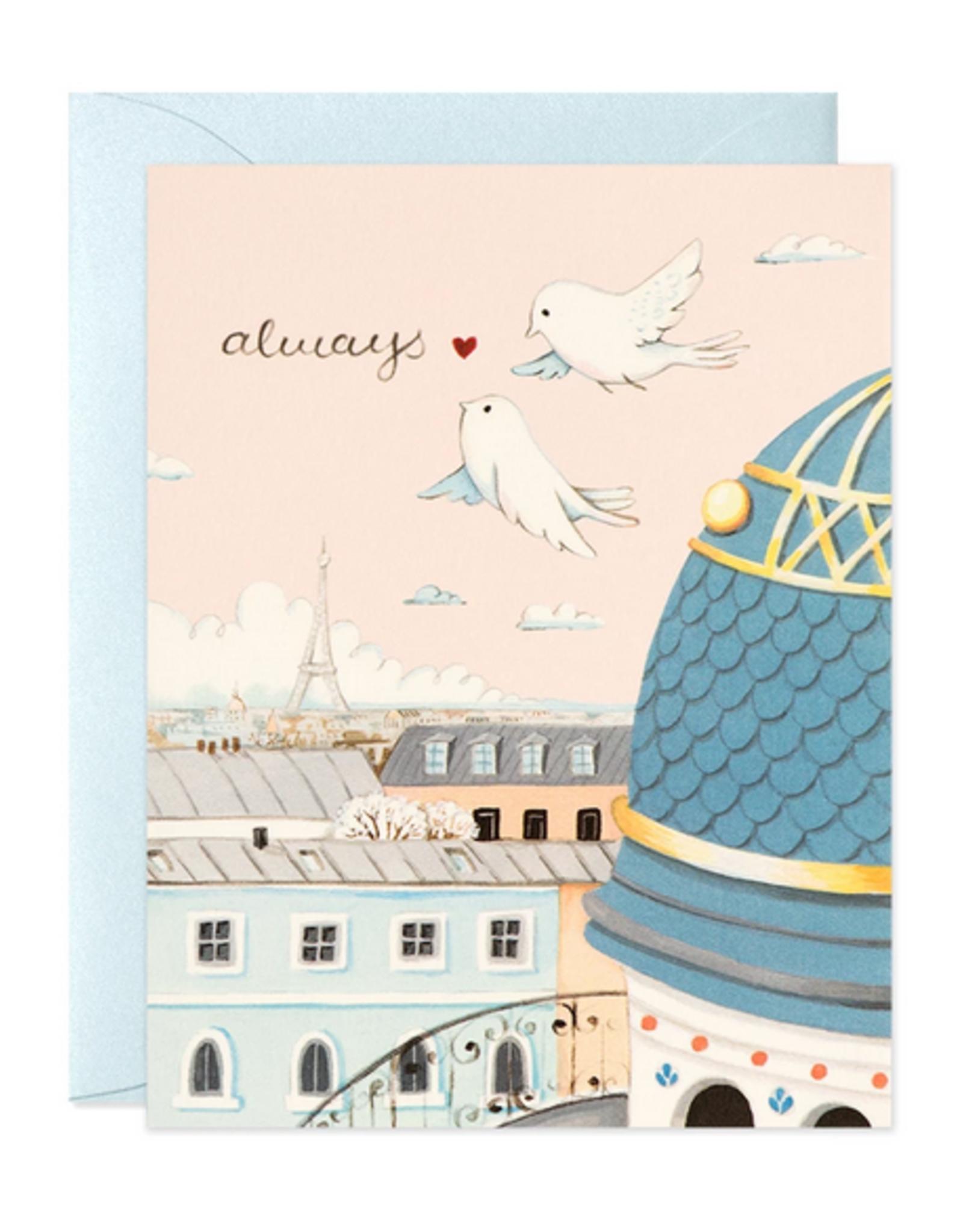Always Paris Rooftops Greeting Card
