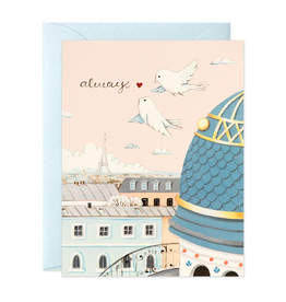 JooJoo Paper Always Paris Rooftops Greeting Card