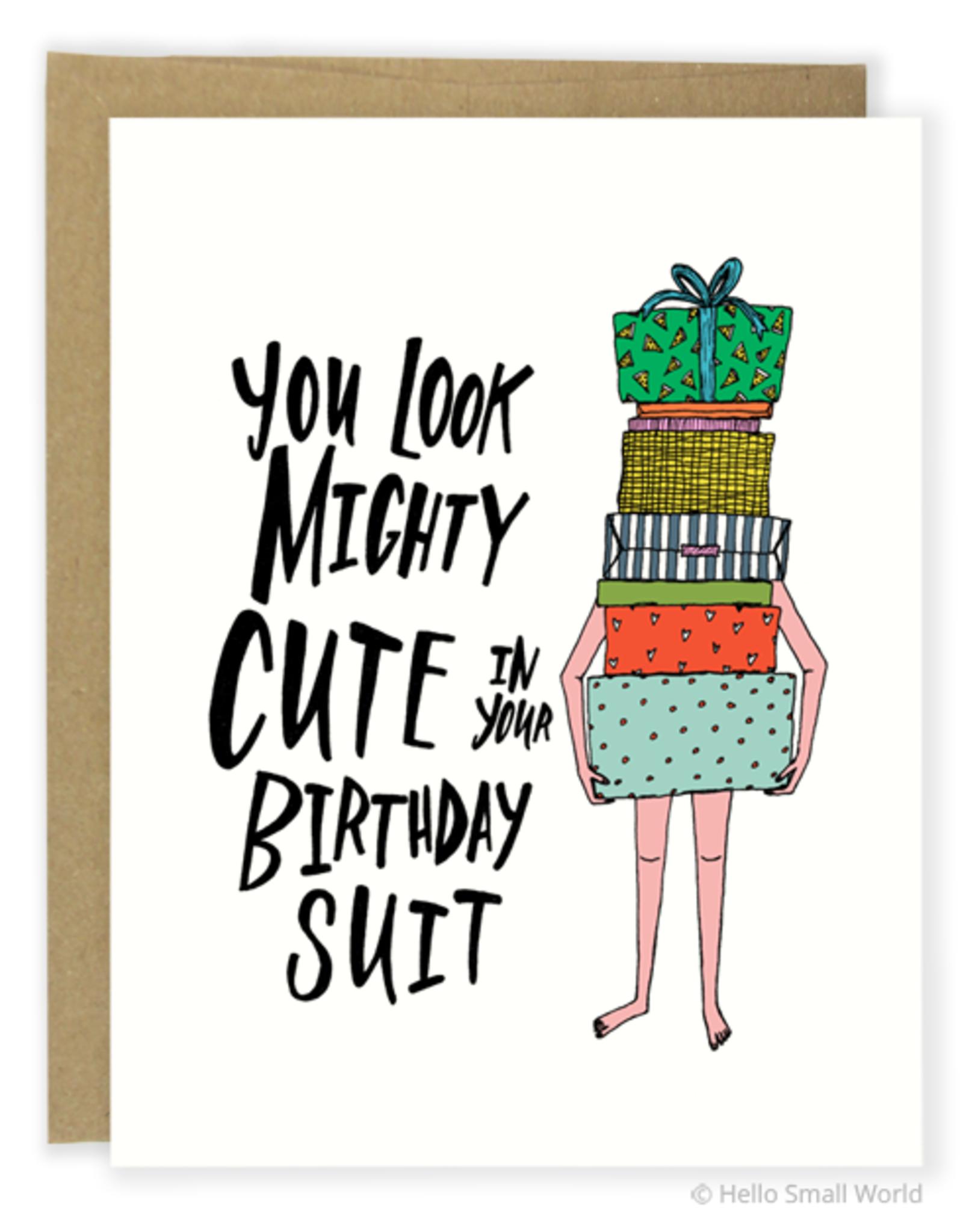 Birthday Suit Greeting Card