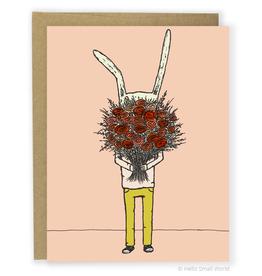 Flower Rabbit Greeting Card